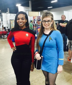 Me with a fellow Trekkie!