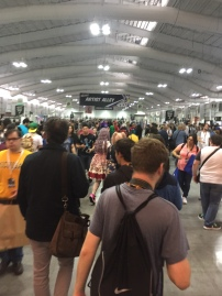 Artist Alley was packed!