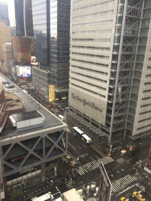 Nice view of the NYT from our hotel.