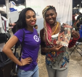 Me with Ariell Johnson of Amalgam Comics